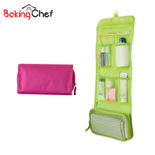 BAKINGCHEF Toiletry Cosmetic Bags Hanging Women's Beauty Makeup Wash Case Organizer Storage Bag Weekend Overnight Accessories(China)
