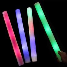1pc Colorful LED Foam Glow Sticks Christmas Concert Cheer Light Stick Birthday Party Decoration Flashing Lights Glowstick K3