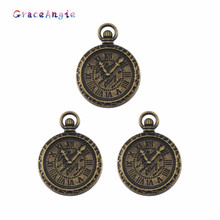 Buy 6PCS Antique Antique Metal Zinc Alloy Mixed Clock Charms Pendant Jewelry Making Diy Decorative Bangle Hanger Key Chain Charm for $1.00 in AliExpress store
