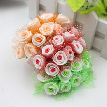 10pcs/lot 2.5cm Head Multicolor PE Foam Mini Flower Artificial Rose Flowers Bouquet wedding decorative flowers DIYwreaths