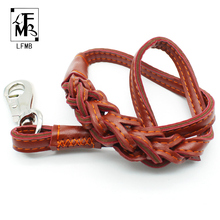 [LFMB]Leather Dog Leashes Pet Dog Leash For Dogs Leather Basic Leashes Show Lead Hand Pets Products Mascotas Leash