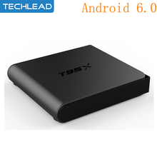 2017 Android 6.0 Smart Set Top Box 2GB 8GB EMMC wifi Media Player Internet TV Box H.265 Quad Core S905x Airplay 4k HD T95X(China)
