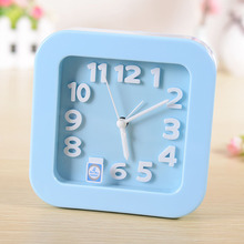 #a Originality Stereoscopic digital alarm clock Simple pinkycolor Student desktop Clock Lazy Big alarm clock personality