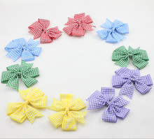 New Plaid Boutique Hair Bow with Clips for Girl Hair Accessories Fashion DIY Hairbow 30pcs/lot Free Shipping