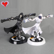 Love Thank You OW Over game watch Overwatches Reaper Black White Skin pvc figure toy Collectibles Model gift doll