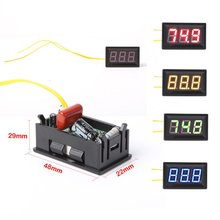 LED AC 30-500V Digital Voltmeter Home Use Voltage Display w/ 2 Wires Red Voltage Meters Electrical Instruments