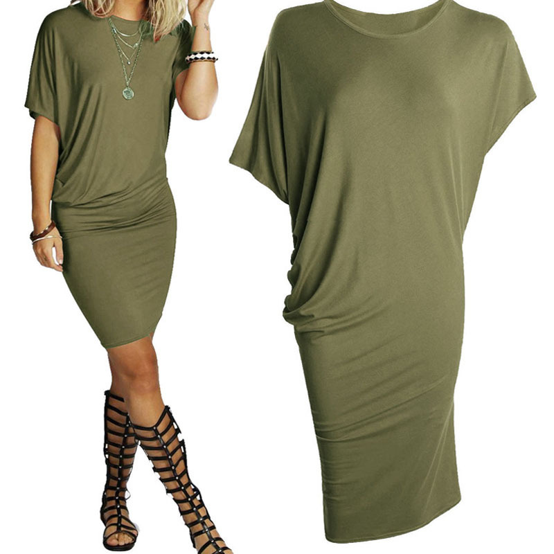 2018 Summer New Fashion Women Dress Casual Short Sleeve dresses Sexy Party Dress Party Packages Hip Pencil 6