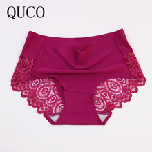 QUCO Sexy panty Lace Women Underwear pink Lady Panties Lingerie Underwear Cotton sale brand underwear women panties sexy(China)