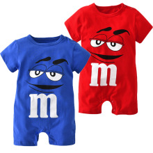 2018 Summer Baby Boy Romper Short Sleeve Cotton Infant Jumpsuit Cartoon Printed Baby Girl Rompers Newborn Baby Clothes 5 Color