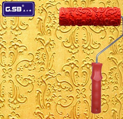 Free shipping Free shipping Rubber roller DIY 7″ DIY Net Pattern Paint Roller for Wall Decoration Paint tools NO.001