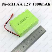 1pc 12v nimh aa Practical New Ni-mh AA 12V 1800MAH Ni-MH Rechargable Battery Pack 12v battery box aa switch for cleaner toys car