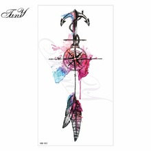 2017 new 3D arm hot flashes Navigation ic temporary tattoo Colorful waterproof body art tattoo sticker tattoos nontoxic arm(China)