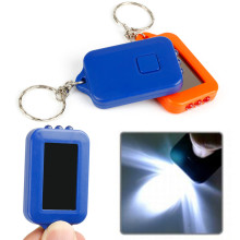 oobest 1 PCS Mini Keychain Portable 3 LED Flashlight Solar Powered Torch Light Keychain Light(China)