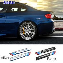 2pcs acrylic M performance car windows sticker car side body emblem sticker for bmw M E71 E87 E61 E60 E90 E46 F10 F20 F30 X5 X6(China)