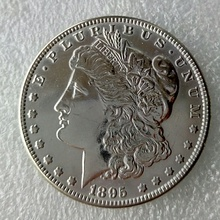 New Style 90% Silver 1895-S Morgan Dollar DEEP MIRROR PROOF LIKE FINISH Copy Coin(China)