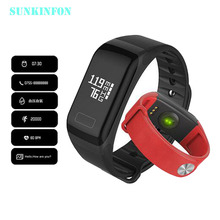 F8 Smart Band Blood Oxygen Pressure Monitor Sport Bracelet Heart Rate Monitor Call/SMS Reminder for iOS Android Phone PK fitbits