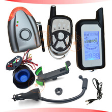 2016 NEW DIY LCD car alarm with shock sensor alarm trigger airpressure alarm trigger USB car charger and mobile holder feature(China)
