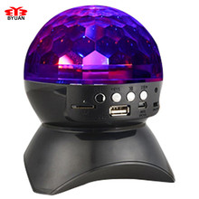 Bluetooth Wireless Speaker Crystal Magic Ball Stereo Portable Speaker Stage LED Loudspeaker amplifier With USB /TF/FM radio+Gift