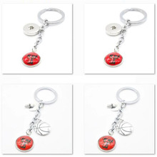2018 New Basketball Keychain NCAA Texas Tech Red Raiders Charm Key Chain Car Keyring for Women Men Party Birthday Keyrings Gifts(China)