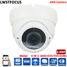 HD 1080P CCTV AHD Camera 2MP Varifocal lens 2.8-12mm Security Surveillance Camera CMOS IR 30M Night Vision Dome Cam For AHD DVR