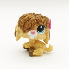 Long hair yellow dog Original 1pcs quality toys Lovely Pet shop animal action figure littlest doll toys 169(China)