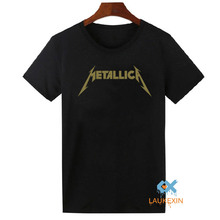 Metallica T-Shirt Unisex Classic Rock Band Music Tops Tees Shirt Hip Hop O-Neck Short Sleeve Cotton T Shirt For Men Women XS-2XL