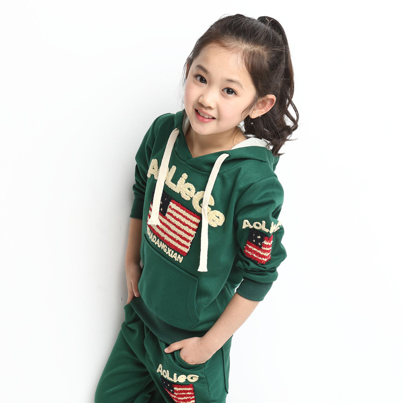 Girls Sportswear for Spring &amp; Fall Cotton Teenage Girls Hoodie + Pants 2 pcs Clothing Set<br><br>Aliexpress