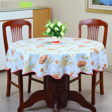 2016New PVC  Plastic Thickened Round Tablecloths Waterproof Oilproof No Clean Tablecover Pastoral Style