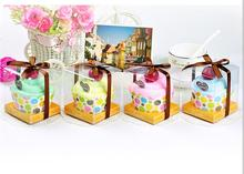 5pcs/lot baby Valentine activities commercial promotional Gift married wedding birthday salute rainbow cup cake towel