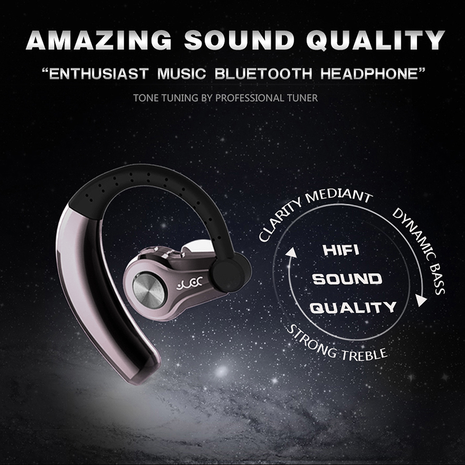 Bluetooth4.1 Headphones Wireless Sport Earphones Sweatproof Running Earbuds Stereo Sound Earpiece with Mic for Gym Sports