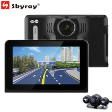 "3 In 1 512M 16GB 7"" IPS 1080P Car DVR GPS Navigation Russia Radar Detector Tablet PC WiFi FM AV-IN with Parking Rear View Camera"
