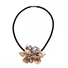 Europe Chic Fashion Nature mother of pearls baroque shell crystal pearl necklace Jewelry Hot Sell(China)