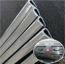 "5metres x 6MM CAR CHROME Styling TRIM STRIP BUMPER AIR VENT GRILLE SWITCH RIM MOULDING ""U"" STYLE Sticker"