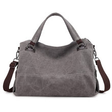 Canvas duffle bag men travel bags for women 2018 Ladies  shoulder bag  canvas lady handbag travelling bags and luggage for women ee646a0899