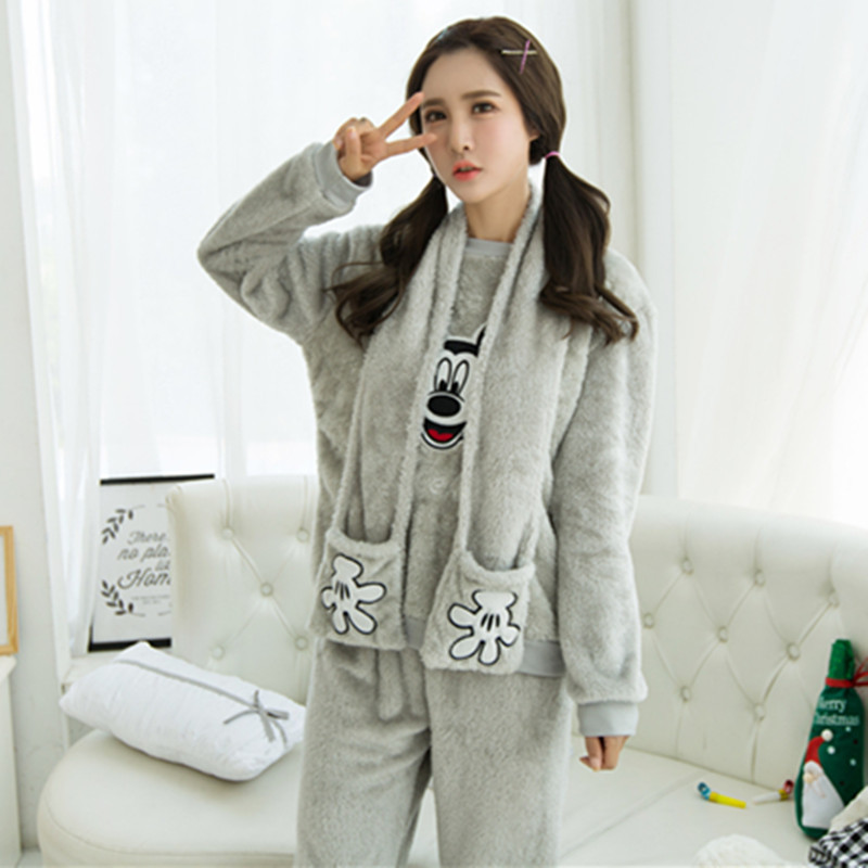 Cute Mickey Mouse pregnant pregnant women autumn and winter breastfeeding pregnant women thicker winter pajamas cartoon animals<br><br>Aliexpress