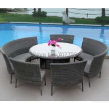 2017 Gray Outdoor Furniture Garden Furniture Dining Set