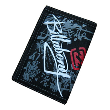 Creative Writing Graffiti Canvas Student Wallet Zipper Short Design Magic Multifunctional 3 Fold Men Purse 12*8.5cm 106(China)