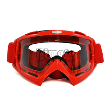 Free Shipping Red Adult Motorcycle goggles Motocross Bike Cross Country Flexible Goggles Clear Lens Motor Glasses(China)