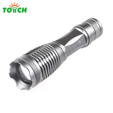 High Quality Cree xml T6 Led Flashlight Long Distance Waterproof Torch Strobe Light Portable Gladiator Hand Lantern for Hunting(China)