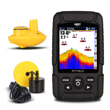 "LUCKY FF718LiD 2.8"" LCD Fish Finder Salt water 200KHz/83KHz 328ft/100m Depth Finder Wireless Sonar Sensor Alarm Fish Detector(China)"