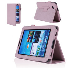 2016 hot sale  PU Leather Stand Case Cover With Stylus Pen And Screen Protector 7\'\' For Samsung Galaxy Tab 2 Tablet P3100