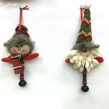 new 1set/lot lovely snowman plush doll Christmas decoration small bell toy Christmas products pendant(China)