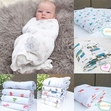 120*120CM Multifunctional Muslin Cotton 100cm Soft Newborn Baby Bath Towel Swaddle Blankets Multi Designs Functions Baby Wrap