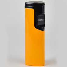 LUBINSKI Induction shape Yellow Windproof Cigar Jet Torch lighters 3 hole flame straight(China)