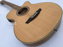 thin body cut-way electric acoustic stinber guitar(China)