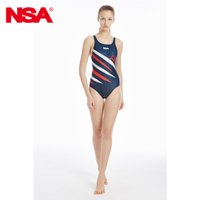 Nsa Women Competition Professional Swimwear Digital Sublimation Transfer Print Swimsuit 2016