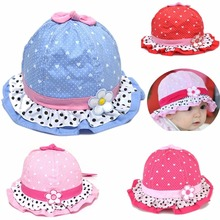 1 Pc New 3-24 Months Cute Baby Girls Sun Flower Polka Dot Hearts Cotton Spring Summer Hat Cap
