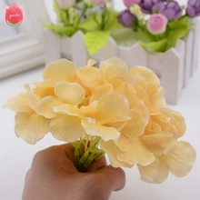 Big Silk Artificial Hydrangea Flower For Wedding Valentine's Day Living Room Decoration Mariage Flores Bride Bouquet Rosa Flower(China)