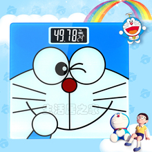 180kg/50g Cartoon Doraemon LCD Display Bathroom Scale Square Electronic Digital Weighing Scale Personal Body Weight Floor Scale