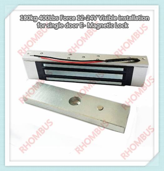 180kg 400lbs Force 12v Visible Installation for Single Door E- Magnetic Lock/electromagnetic Door Lock/magnetic Lock<br>
